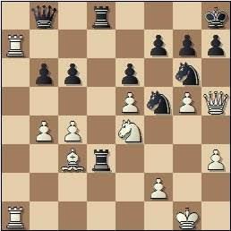 Partida de ajedrez Lupi - Rico, posición después de 30…Db8