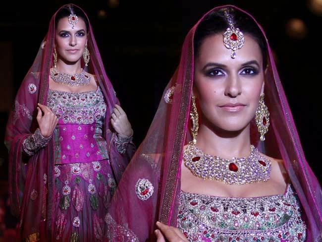 Neha Dhupia at India International Jewellery Week (IIJW)-2014