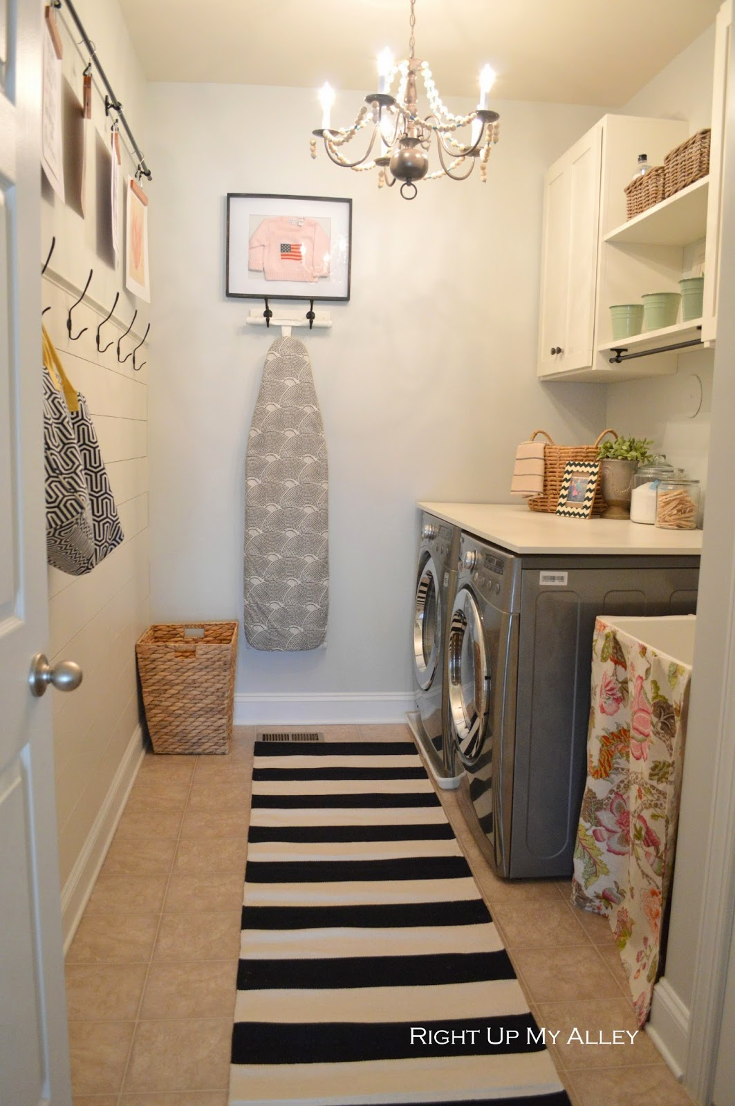 laundry organisation and storage tips hanging ironing board
