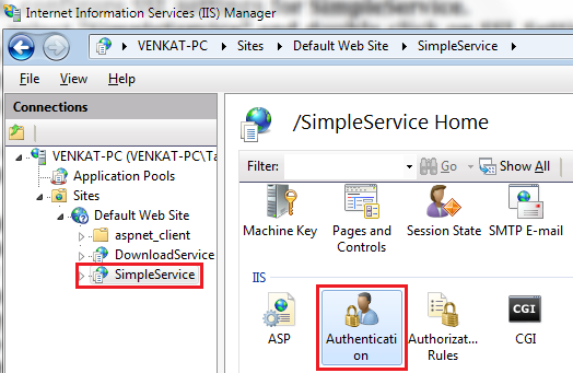 enable Basic Authentication in IIS
