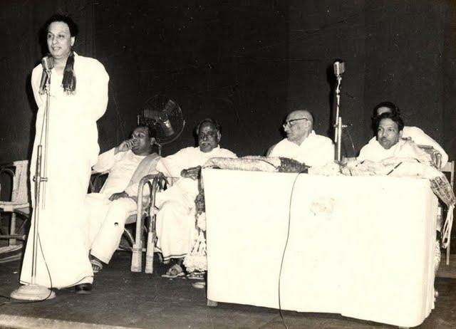 MGR with Anna Durai, Rajaji, Karunanidhi & Mathiyazhagan