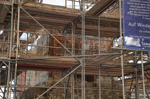 Baustelle Potsdam, Stadtmitte im Bau, Der Obelisk, Am Alten Markt, 14467 Potsdam, 11.01.2014