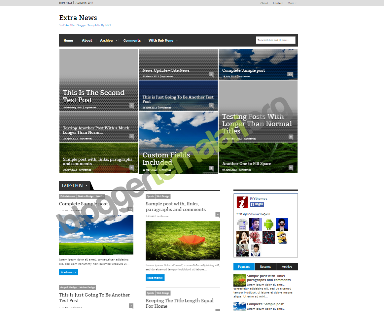 Blogger ExtraNews Dekorasyon Teması