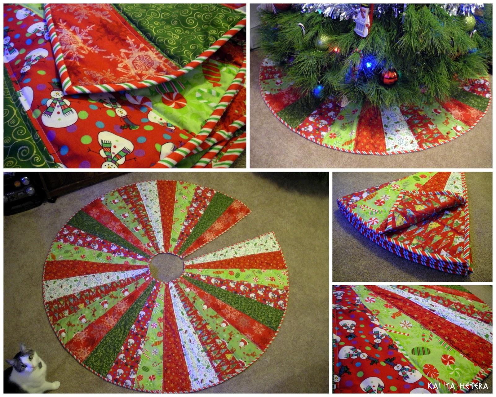 kai ta hetera quilted christmas tree skirt. Black Bedroom Furniture Sets. Home Design Ideas