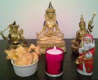 Buddhas, Bodhisattvas, Santa Claus and Christmas Cookies