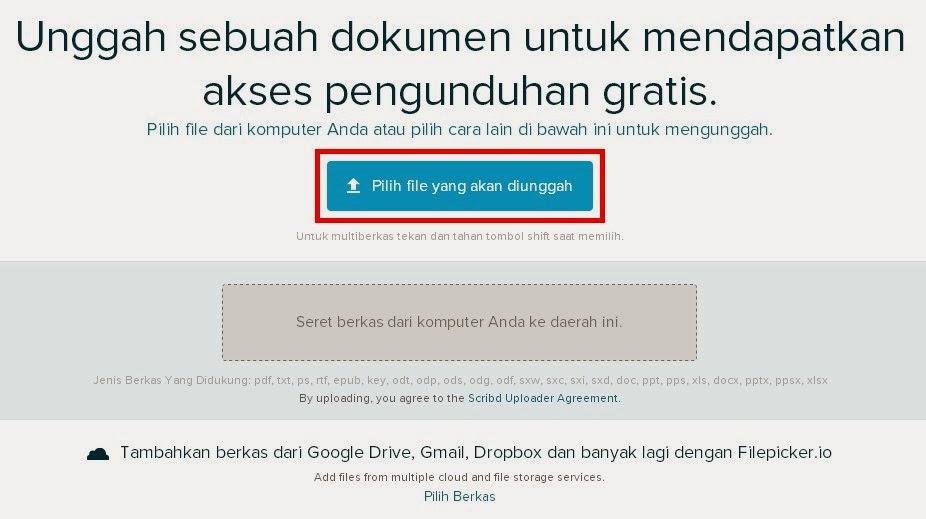 Cara download dokumen Scribd gratis versi 2014