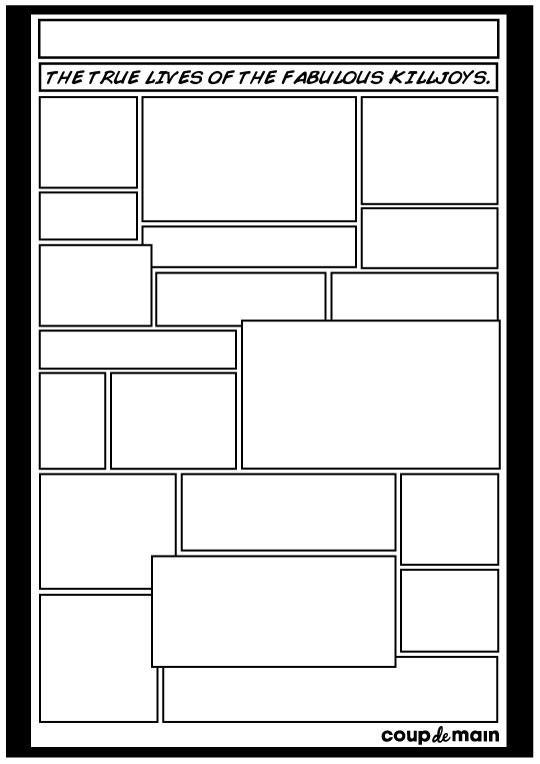 blank comic book template killjoys comic strip entry