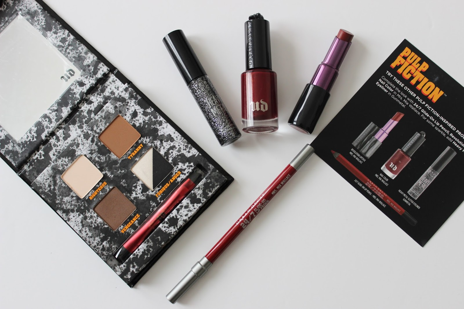 Urban Decay Pulp Fiction makeup collection