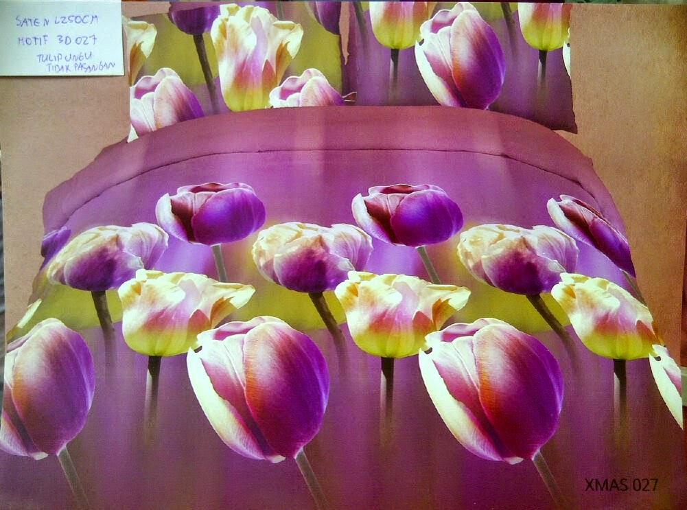 Sprei Jepang Panel 3D motif Tulip Ungu