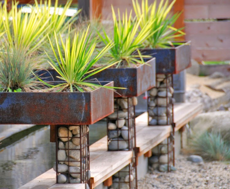 Modern Garden Design Examples - Planters As Accent | Houzz Home