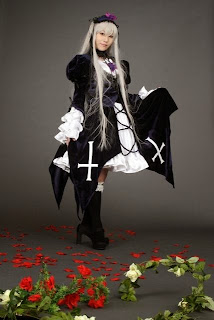 Suzukaze Yuki Cosplay as Suigintou from Rozen Maiden