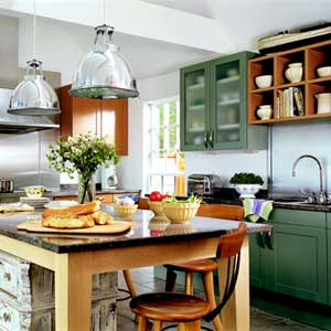 dark green kitchen cabinets pictures