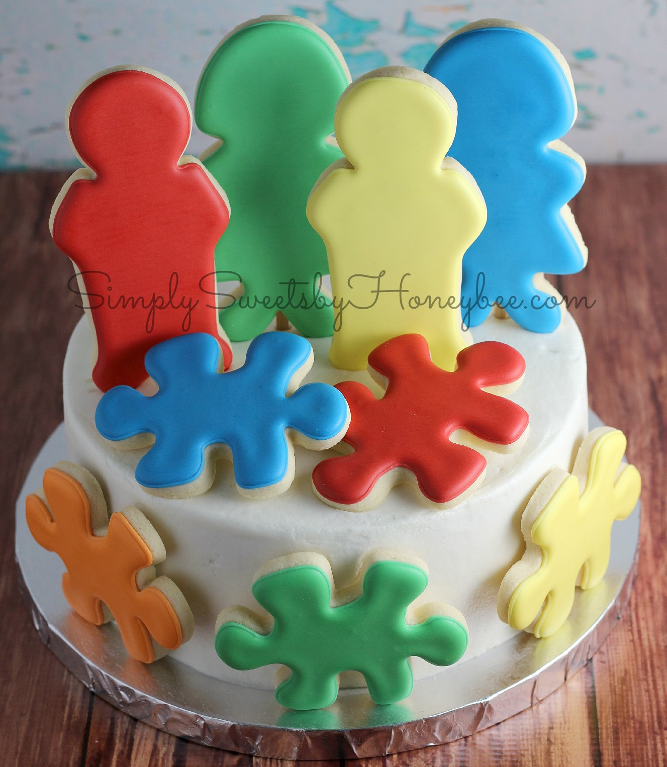 The Cookie Puzzle Autism Awareness Cake By Simply Sweets