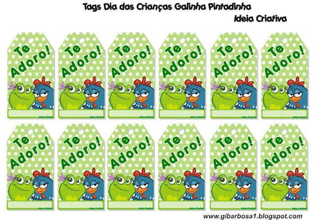 Tags Dia das Crianças Galinha Pintadinha