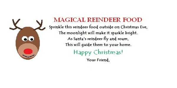 photo regarding Printable Reindeer Food Tags called One particular Inventive Housewife: Magical Reindeer Foods