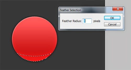 Create a  Simple Red Glossy