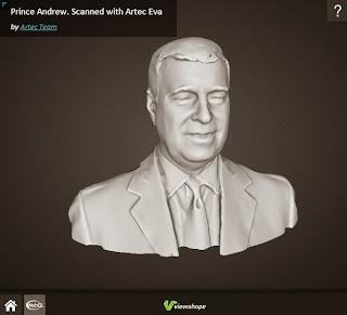 Malla del príncipe hecha con el escáner 3D EVA