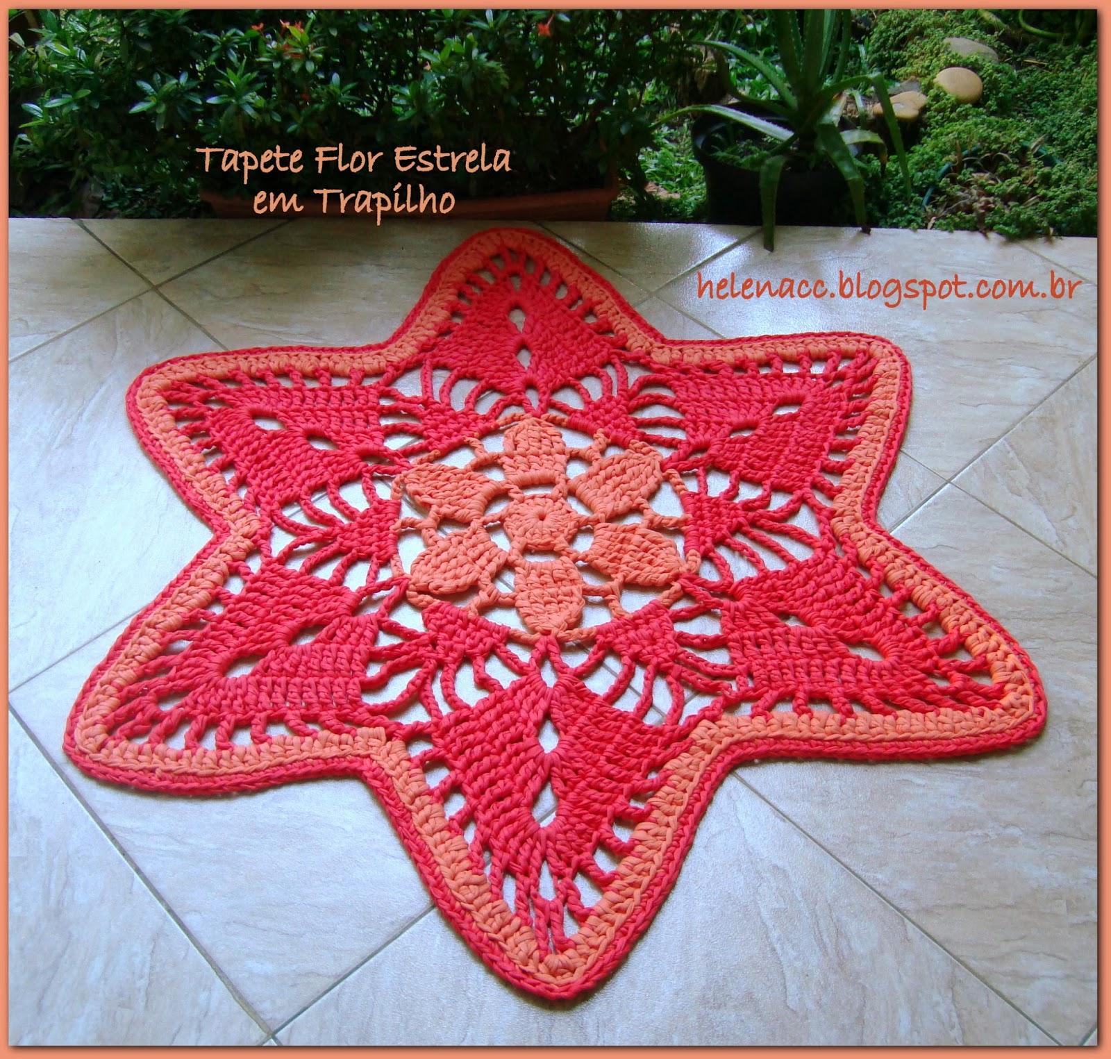 Вязание коврика звезда схема
