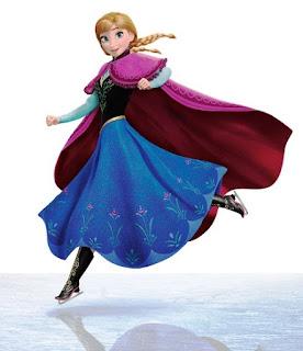 Gambar Anna frozen skating