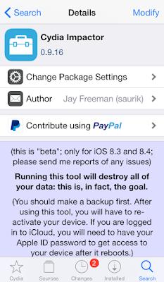 Cara menghilangkan jailbreak iPhone tanpa Restore