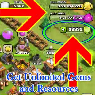 Get unlimited Gems and Resources in Clash of Clans