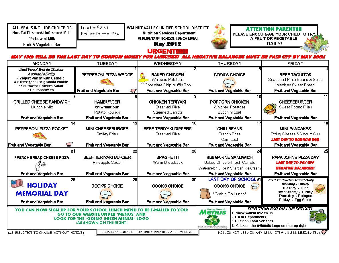 School Breakfast Menu Template samples of meeting agendas free – Lunch Menu Template