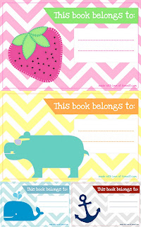 Free Book Label Printables