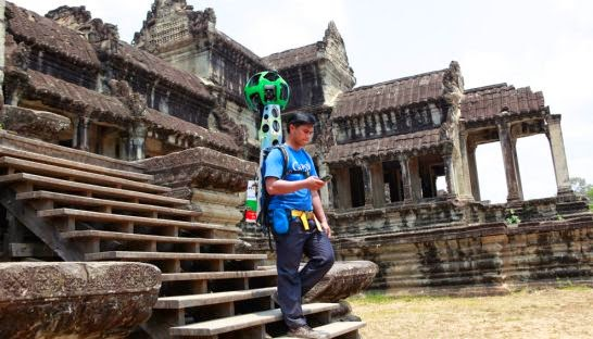 Cambodian Google Map Staff is Working in Street View
