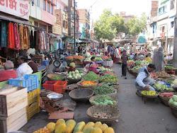 street market, udaipur
