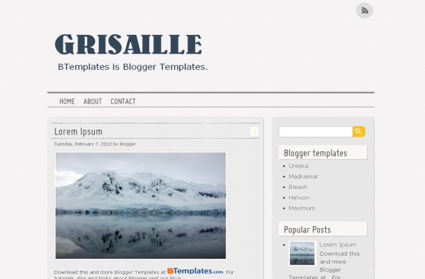 Newspaper Magazine Free Blogger Theme Template