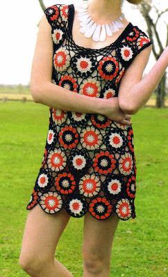 """Como confeccionar un vestido """"optico"""" tejido en crochet. (talle 2) (diagramas)"""
