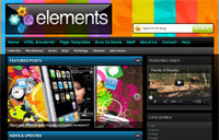 Elements Blogger Template