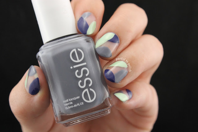 Negative Space Cool-Toned Colour Blocking Inspired by Maria of So Nailicious