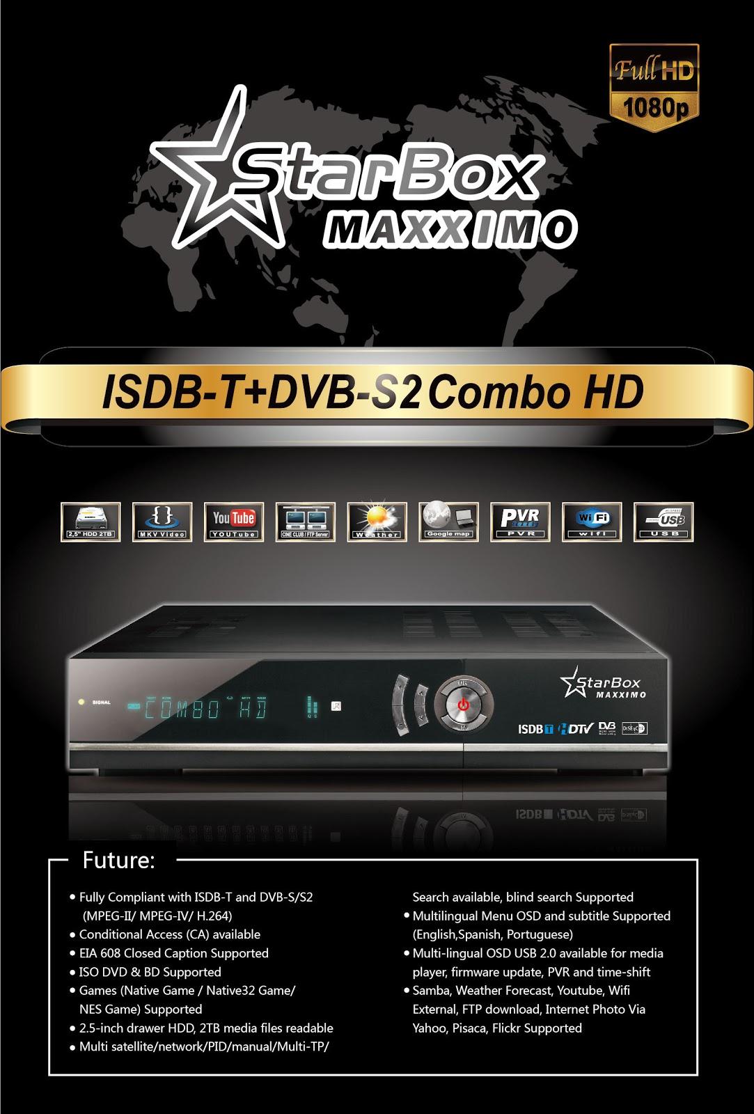 Resultado de imagem para StarBOX MAXXIMO,FULLHD,WIFI,