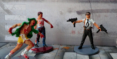 Zombicide Kickstarter Nick El Cholo Zombies Painted Phil the cop Doug Office