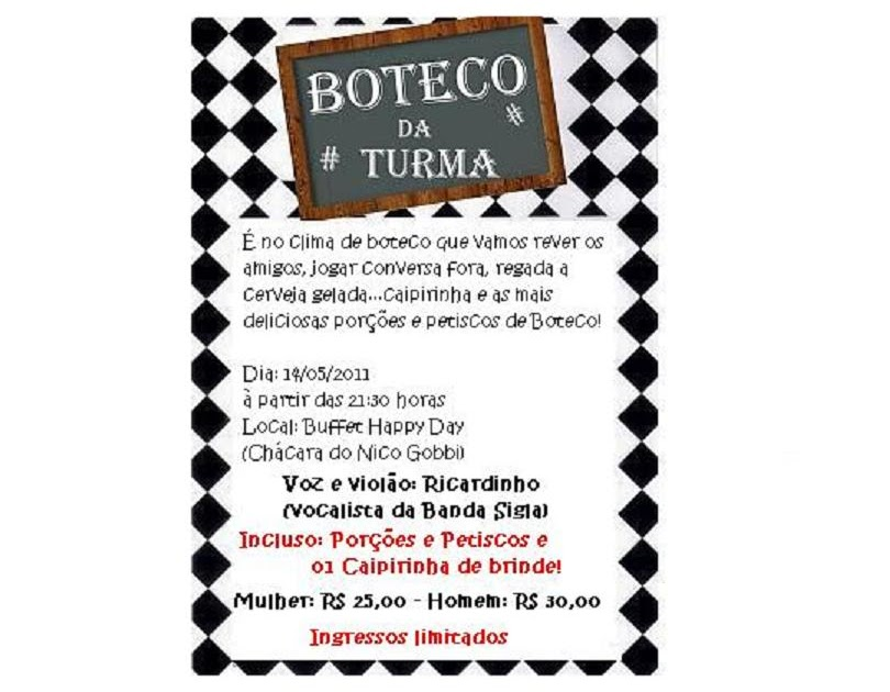 Happy Day Buffet Noite De Boteco