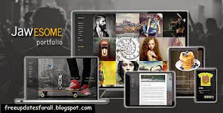 JaWesome - Creative WordPress Portfolio Theme Free Download