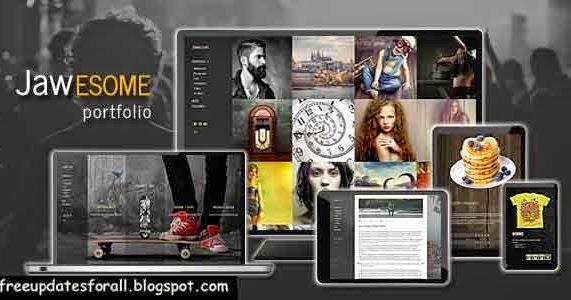 JaWesome - Creative WordPress Portfolio Theme Free Download