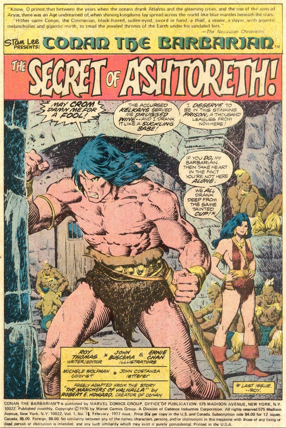 Conan the Barbarian (1970) Issue #71 #83 - English 2