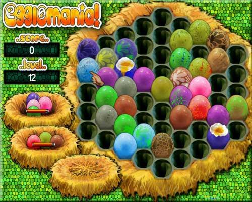 تحميل لعبة الذكاء رص البيض في الاطباق Egglomania للكمبيوتر والاب توب
