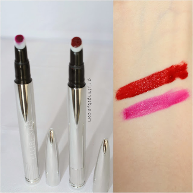 Ellis Faas creamy lipstick L104 Deep Fuchsia, L101 Ellis Red, girly things by *e*