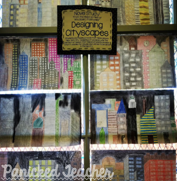 Cityscapes, drawing cityscapes, cityscapes lesson, 5th grade art lesson, cityscape art lesson