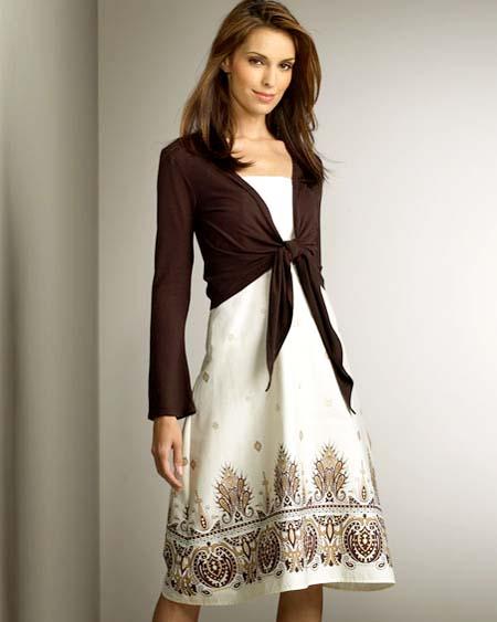 Beautiful Summer Dress With Short Jacket Style 2011 | Women Dresees