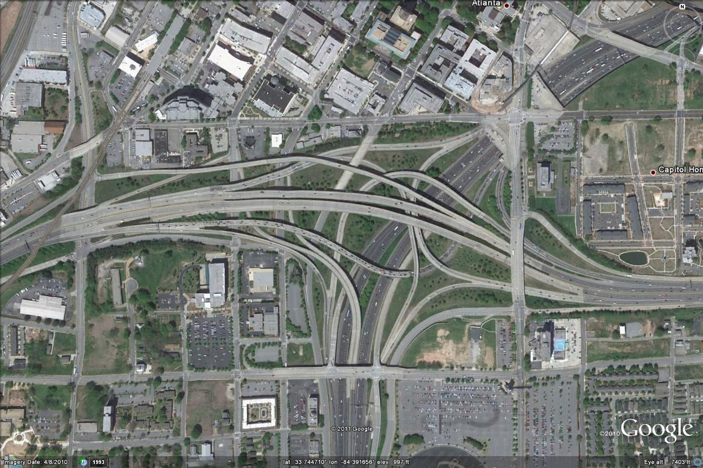 How Wasteful Are Your Freeway Interchanges Archive - Map of atlanta bypass