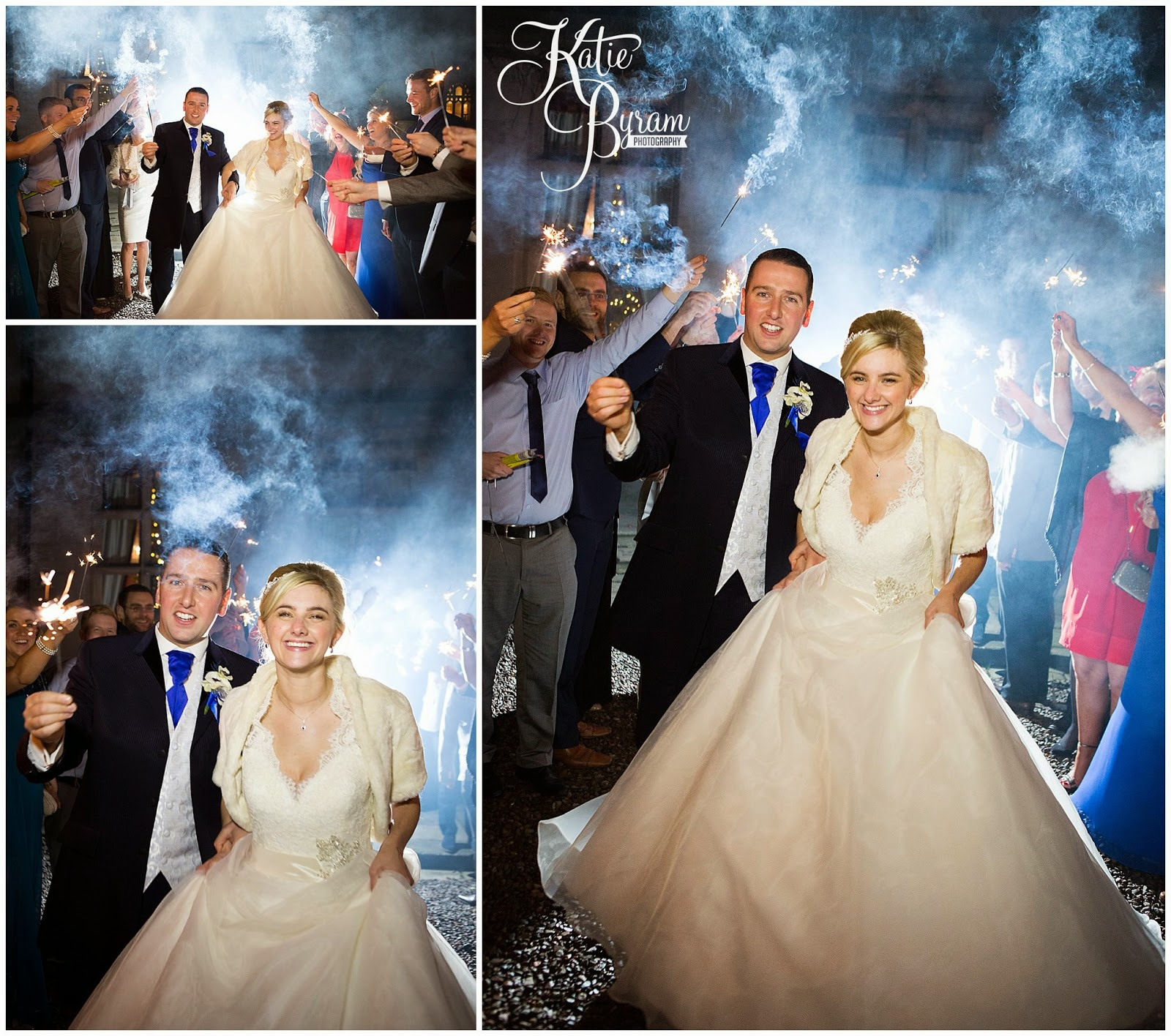 wedding sparklers, bride and groom with sparklers, ,  ellingham hall, ellingham hall wedding, katie byram photography, alnwick treehouse wedding, alnwick garden wedding, alnwick wedding,