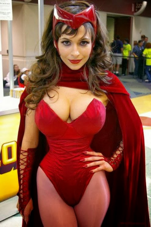 sexy cosplay scarlet witch