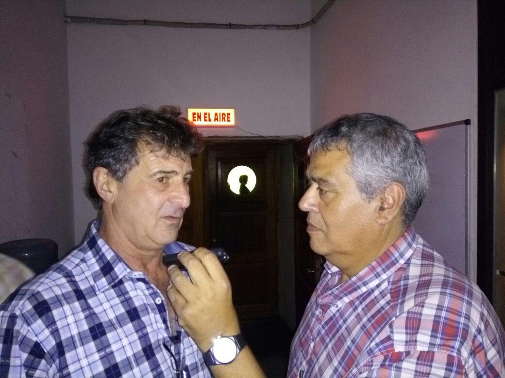 Rubén Di Liddo con Mario Kempes