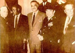 Kwame Nkrumah with other co-founders of the Non-Aligned Movement: Nehru of India, Nassar of Egypt, Sukharno of Indonesia and Tito of Yugoslavia in late 1960