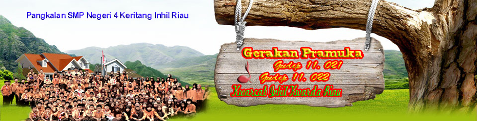 Gerakan Pramuka Gudep 11.021-11.022 SMPN 4 Keritang