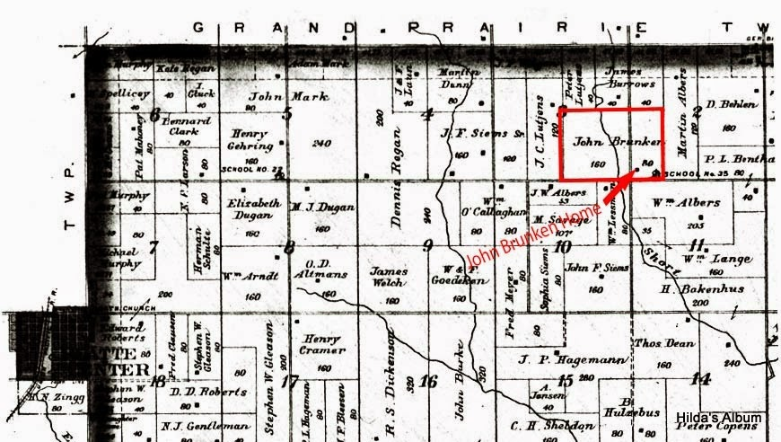 899 Land Ownership Map - NW Shell Creek Township, Platte, Nebraska
